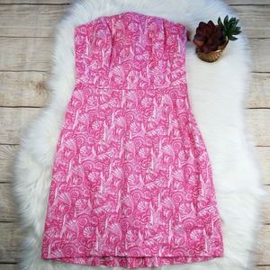 Vineyard Vines Pink Shell Strapless Dress